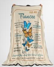 "FE008 Large Fleece Blanket - 60"" x 80"" aos-coral-fleece-blanket-60x80-lifestyle-front-10"