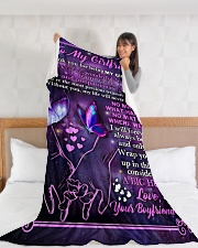 "GF024 Large Fleece Blanket - 60"" x 80"" aos-coral-fleece-blanket-60x80-lifestyle-front-11"