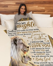 "DM004  Large Fleece Blanket - 60"" x 80"" aos-coral-fleece-blanket-60x80-lifestyle-front-05"