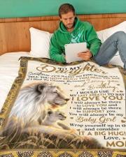 "DM004  Large Fleece Blanket - 60"" x 80"" aos-coral-fleece-blanket-60x80-lifestyle-front-06"