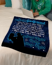 "GIFT FOR GIRLFRIEND Small Fleece Blanket - 30"" x 40"" aos-coral-fleece-blanket-30x40-lifestyle-front-07"