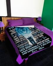 "SM003 Large Fleece Blanket - 60"" x 80"" aos-coral-fleece-blanket-60x80-lifestyle-front-01"