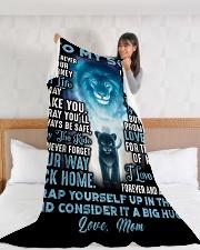"SM003 Large Fleece Blanket - 60"" x 80"" aos-coral-fleece-blanket-60x80-lifestyle-front-11"
