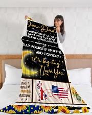 "CD001 Large Fleece Blanket - 60"" x 80"" aos-coral-fleece-blanket-60x80-lifestyle-front-11"