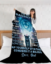 "DD008  Large Fleece Blanket - 60"" x 80"" aos-coral-fleece-blanket-60x80-lifestyle-front-11"