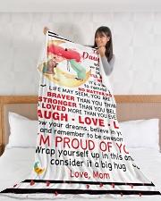 "DM009  Large Fleece Blanket - 60"" x 80"" aos-coral-fleece-blanket-60x80-lifestyle-front-11"