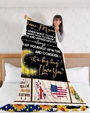 "CU002 Large Fleece Blanket - 60"" x 80"" aos-coral-fleece-blanket-60x80-lifestyle-front-11"