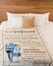 "GF011 Large Fleece Blanket - 60"" x 80"" aos-coral-fleece-blanket-60x80-lifestyle-front-02"