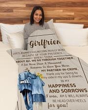 "GF011 Large Fleece Blanket - 60"" x 80"" aos-coral-fleece-blanket-60x80-lifestyle-front-05"
