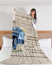 "GF011 Large Fleece Blanket - 60"" x 80"" aos-coral-fleece-blanket-60x80-lifestyle-front-11"