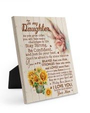 CV - DM0001 - GIFT FOR DAUGHTER FROM MOM 8x10 Easel-Back Gallery Wrapped Canvas front