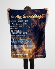 """GIFT FOR GRANDDAUGHTER Small Fleece Blanket - 30"""" x 40"""" aos-coral-fleece-blanket-30x40-lifestyle-front-14"""