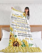 "DD025 Large Fleece Blanket - 60"" x 80"" aos-coral-fleece-blanket-60x80-lifestyle-front-11"