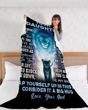 "DD013 Large Fleece Blanket - 60"" x 80"" aos-coral-fleece-blanket-60x80-lifestyle-front-11"
