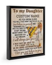 CV - DM0003 - GIFT FOR DAUGHTER FROM MOM Floating Framed Canvas Prints Black tile