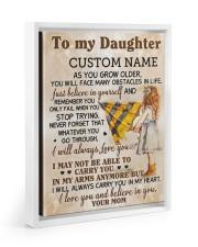 CV - DM0003 - GIFT FOR DAUGHTER FROM MOM Floating Framed Canvas Prints White tile