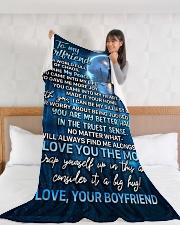 "GF025 Large Fleece Blanket - 60"" x 80"" aos-coral-fleece-blanket-60x80-lifestyle-front-11"