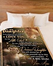 "DM005 Large Fleece Blanket - 60"" x 80"" aos-coral-fleece-blanket-60x80-lifestyle-front-02"