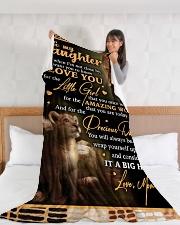 "DM005 Large Fleece Blanket - 60"" x 80"" aos-coral-fleece-blanket-60x80-lifestyle-front-11"