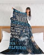 "BF001 Large Fleece Blanket - 60"" x 80"" aos-coral-fleece-blanket-60x80-lifestyle-front-11"