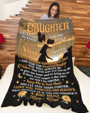 """BLANKET - DD0001 - GIFT FOR DAUGHTER Large Fleece Blanket - 60"""" x 80"""" aos-coral-fleece-blanket-60x80-lifestyle-front-04a"""