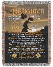 BLANKET - DD0001 - GIFT FOR DAUGHTER 60x80 - Woven Blanket tile