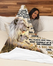 "SM005 Large Fleece Blanket - 60"" x 80"" aos-coral-fleece-blanket-60x80-lifestyle-front-03"