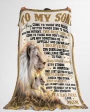 "SM005 Large Fleece Blanket - 60"" x 80"" aos-coral-fleece-blanket-60x80-lifestyle-front-10"