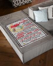 "DD024  Small Fleece Blanket - 30"" x 40"" aos-coral-fleece-blanket-30x40-lifestyle-front-03"