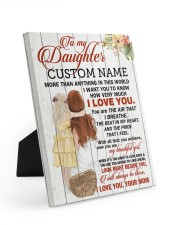CV - DM0004 - GIFT FOR DAUGHTER FROM MOM 8x10 Easel-Back Gallery Wrapped Canvas front