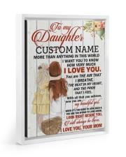 CV - DM0004 - GIFT FOR DAUGHTER FROM MOM Floating Framed Canvas Prints White tile