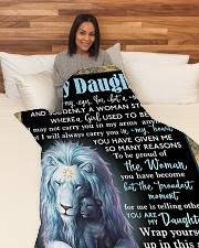 "DD022  Large Fleece Blanket - 60"" x 80"" aos-coral-fleece-blanket-60x80-lifestyle-front-05"