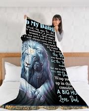 "DD022  Large Fleece Blanket - 60"" x 80"" aos-coral-fleece-blanket-60x80-lifestyle-front-11"
