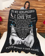 """BL - GF0002A - GIFT FOR GIRLFRIEND Large Fleece Blanket - 60"""" x 80"""" aos-coral-fleece-blanket-60x80-lifestyle-front-04a"""