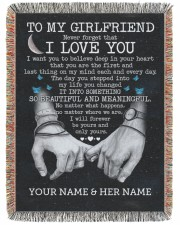 BL - GF0002A - GIFT FOR GIRLFRIEND 60x80 - Woven Blanket tile
