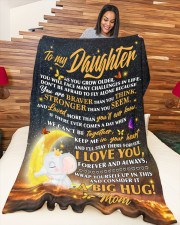 """BLANKET - DM0002 - GIFT FOR DAUGHTER Large Fleece Blanket - 60"""" x 80"""" aos-coral-fleece-blanket-60x80-lifestyle-front-04a"""