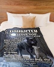 "DU002 Large Fleece Blanket - 60"" x 80"" aos-coral-fleece-blanket-60x80-lifestyle-front-02"