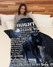 "DU002 Large Fleece Blanket - 60"" x 80"" aos-coral-fleece-blanket-60x80-lifestyle-front-05"