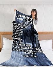 "DU002 Large Fleece Blanket - 60"" x 80"" aos-coral-fleece-blanket-60x80-lifestyle-front-11"