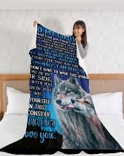 "GF013 Large Fleece Blanket - 60"" x 80"" aos-coral-fleece-blanket-60x80-lifestyle-front-11"