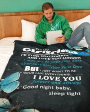 "GF012 - GIFT FOR GIRLFRIEND Large Fleece Blanket - 60"" x 80"" aos-coral-fleece-blanket-60x80-lifestyle-front-06"