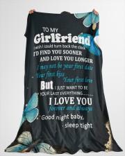 "GF012 - GIFT FOR GIRLFRIEND Large Fleece Blanket - 60"" x 80"" aos-coral-fleece-blanket-60x80-lifestyle-front-10"