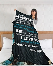 "GF012 - GIFT FOR GIRLFRIEND Large Fleece Blanket - 60"" x 80"" aos-coral-fleece-blanket-60x80-lifestyle-front-11"