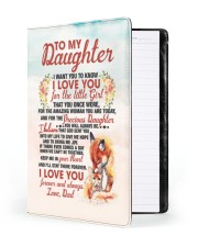 NOTEBOOK - DD0001 - GIFT FOR DAUGHTER FROM DAD Large - Leather Notebook front