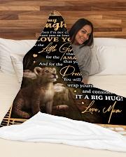 "DU005 Large Fleece Blanket - 60"" x 80"" aos-coral-fleece-blanket-60x80-lifestyle-front-03"
