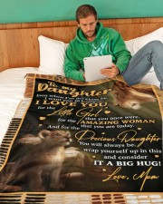 "DU005 Large Fleece Blanket - 60"" x 80"" aos-coral-fleece-blanket-60x80-lifestyle-front-06"