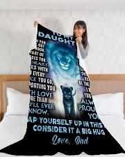 "DD011  Large Fleece Blanket - 60"" x 80"" aos-coral-fleece-blanket-60x80-lifestyle-front-11"