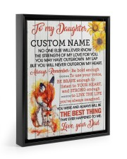 CV - DM0005 - GIFT FOR DAUGHTER FROM MOM Floating Framed Canvas Prints Black tile