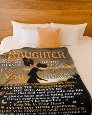 "BLANKET - DU0001 - GIFT FOR DAUGHTER Large Fleece Blanket - 60"" x 80"" aos-coral-fleece-blanket-60x80-lifestyle-front-02a"