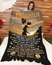 "BLANKET - DU0001 - GIFT FOR DAUGHTER Large Fleece Blanket - 60"" x 80"" aos-coral-fleece-blanket-60x80-lifestyle-front-04a"